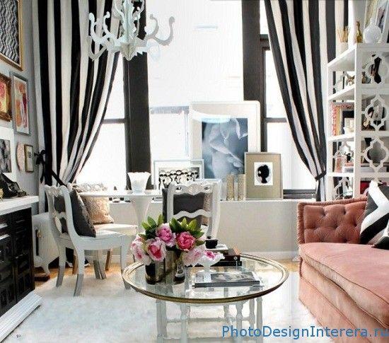 Дизайн интерьера стильной и гламурной спальни фото