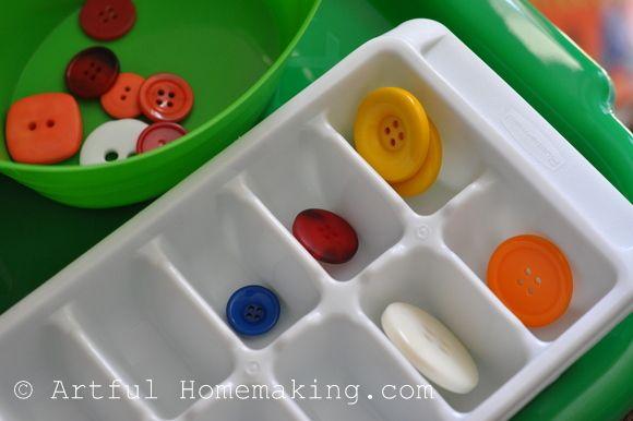 Artful Homemaking. great toddler activities