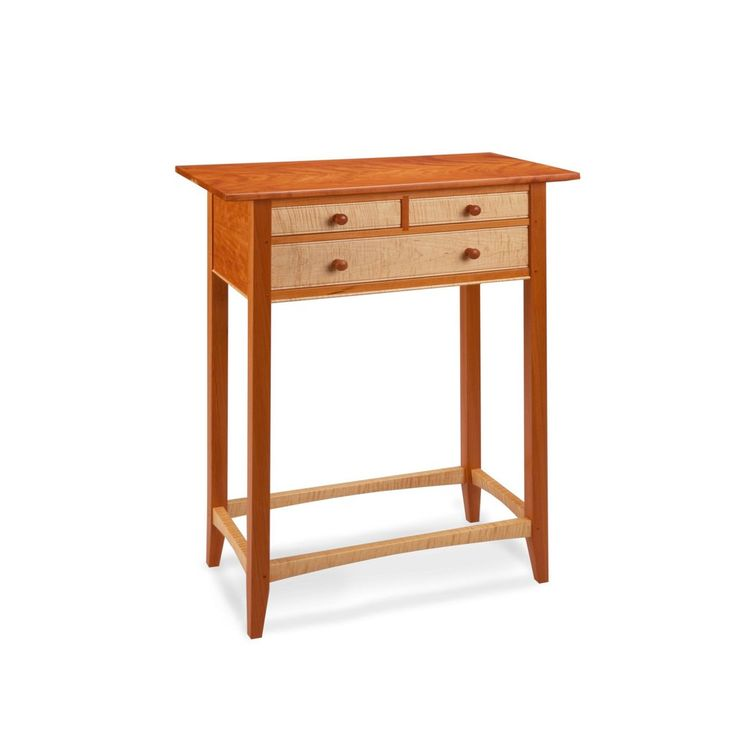 Thomas William Furniture Maple and Cherry Tatianna Hall Table, Artistic Artisan Designer Tables