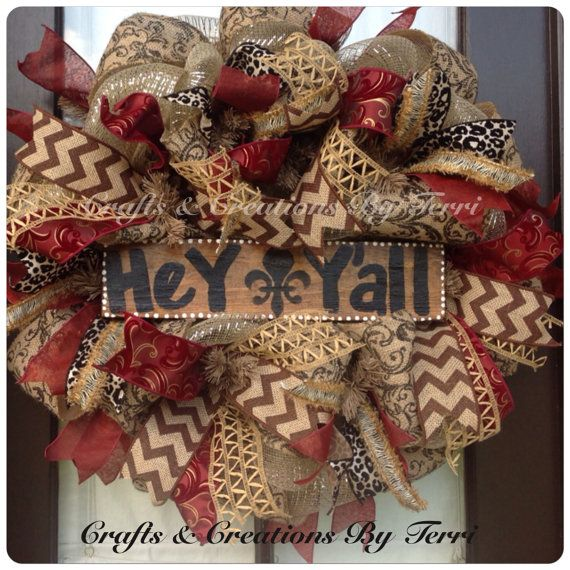 Hey Y'all chevron burlap EVERYDAY animal print by CreatedByTerri, $85.00