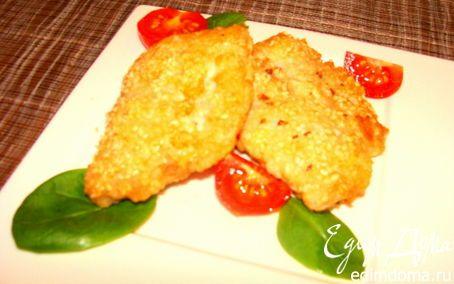 Филе судака в кунжуте и яйце   Кулинарные рецепты от «Едим дома!»