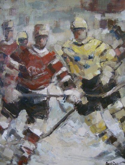IJshockey van Jan Rodrigo    IJshockey