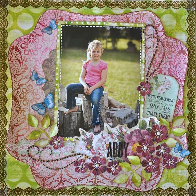 A Layout made using the Be-YOU-tiful Collection from kaisercraft by Kelly-ann Oosterbeek. Butterflies can be found on Etsy at www.etsy.com/au/shop/FromAMothersArt