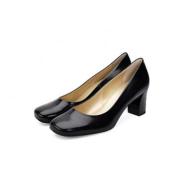 Peter Kaiser High Shine Heel - The beautiful contrast of black leather with high shine heel offers a corporate shoe with a hint of difference.  For our full collection visit http://www.louisemshoes.com. #louisemshoes