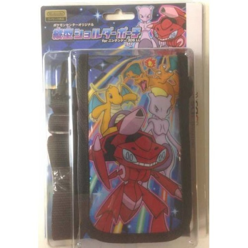 Pokemon Center 2013 Nintendo 3DSLL/3DS/DSiLL/DSi/DS Lite Red Genesect Mewtwo Dragonite Charizard Shoulder Carrying Pouch