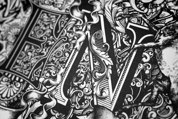 Typography by Greg Coulton. More on http://lookslikegooddesign.com/typography-by-greg-coulton/