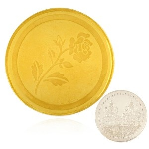 20gm Gold Coin in 24kt. with 995 Fineness Free 10g Silver Coin