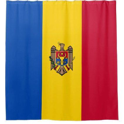 Moldova Flag Shower Curtain - shower curtains home decor custom idea personalize bathroom