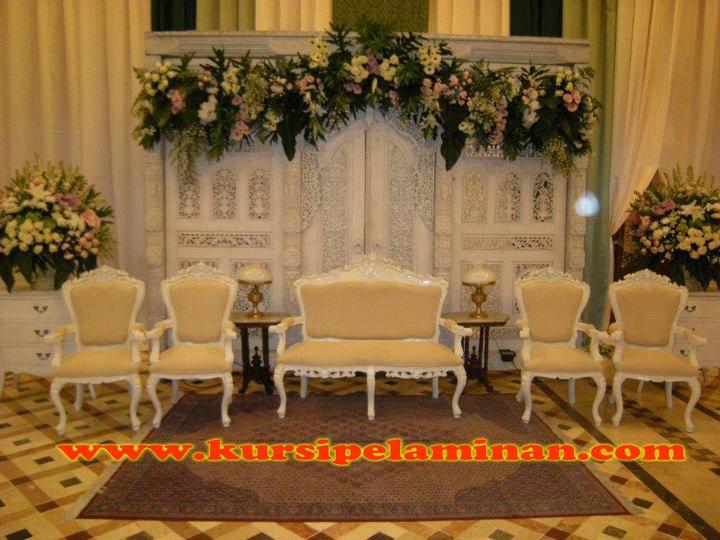 Set Kursi Pelaminan Putih Duco Jepara