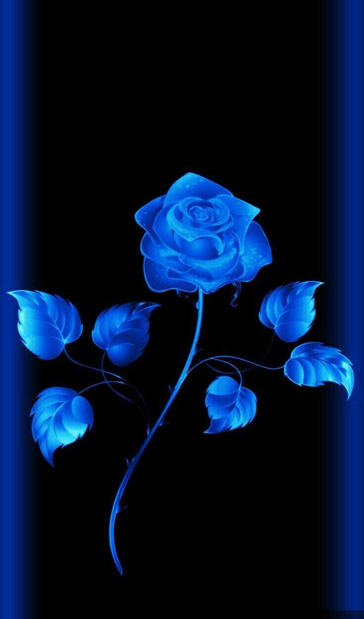 Wallpaper By Artist Unknown Blueflowerwallpaper Wallpaper By Artist Unknown Blue Flower Wallpaper Blue Roses Wallpaper Flower Wallpaper