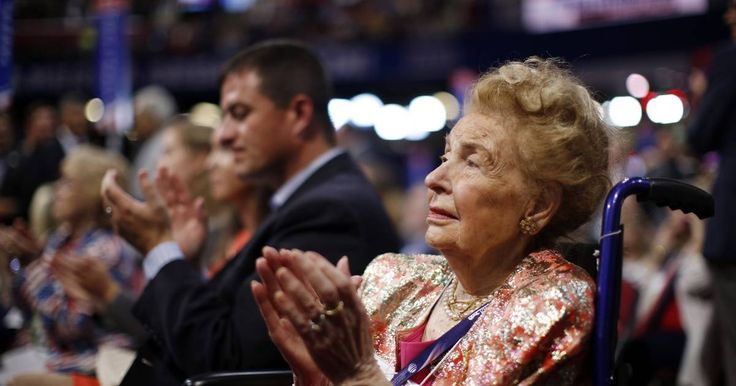 Missouri delegate Phyllis Schlafly watches during the second day session of the Republican National Convention in Cleveland, Tuesday, July 19, 2016.