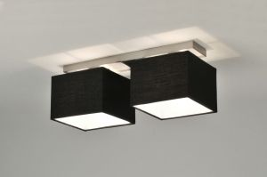 Plafondlamp 71213: Modern, Eigentijds Klassiek, Wit, Stof