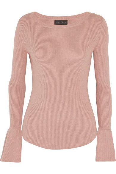 HATCH HATCH - RIBBED COTTON-BLEND SWEATER - BABY PINK. #hatch #cloth #