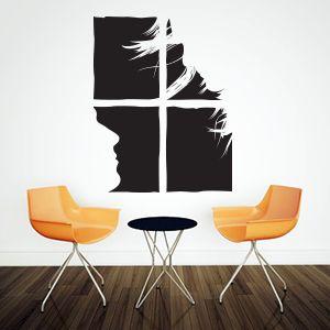 Look at each other sticker. Kærlighed wallsticker. Køb denne flotte wallsticker hos DecoStickers.dk