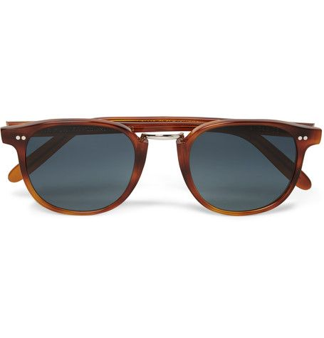"Cutler and Gross describes its customer as a ""rare breed"" who appreciates the finer details. These sunglasses capture that ethos, having been meticulously made by hand in Italy. This retro tortoiseshell acetate design is fitted with UV protective polarised lenses and gold MR PORTER branding on the inner arm to commemorate our fifth anniversary."