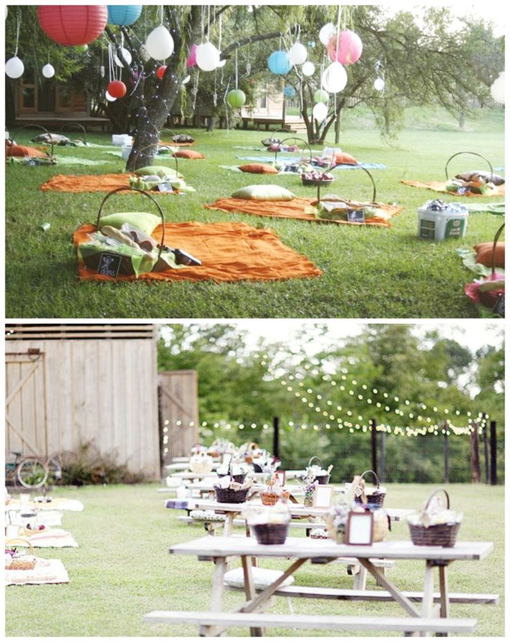 Picnic Wedding Chairs And Blankets