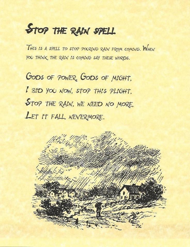 Stop Rain Fall