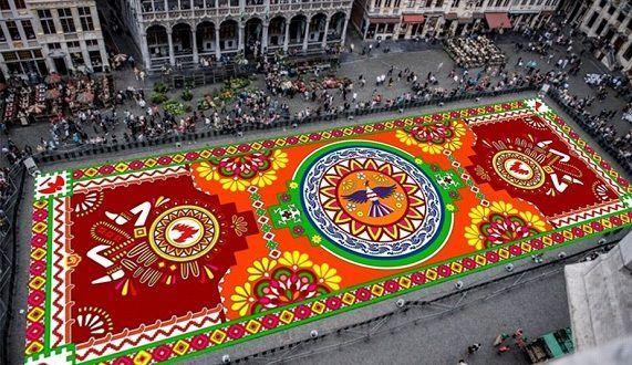 بروكسل تحتضن أكبر سجادة زهور مكسيكية في العالم Ferris Wheel Fair Grounds Travel