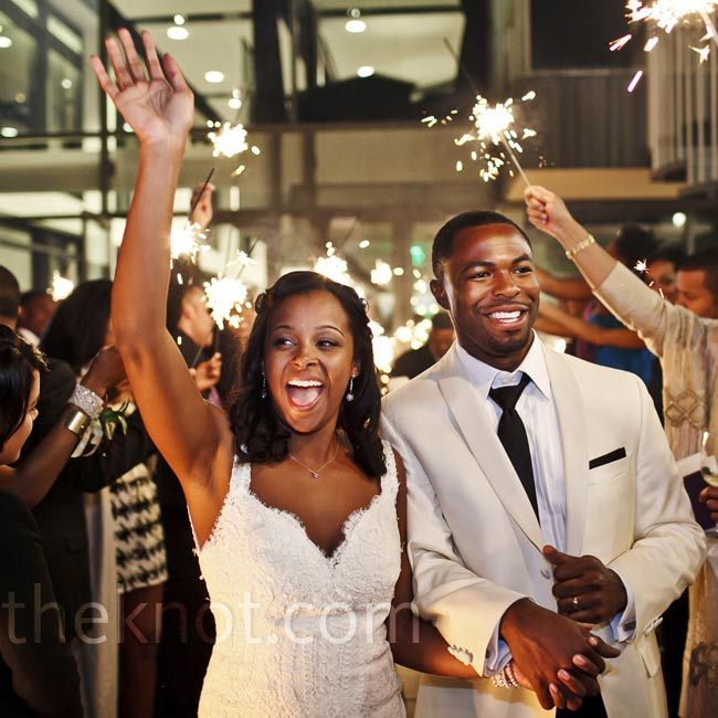 Friends And Family Waved Sparklers As The Couple Makes Their Exit From Reception