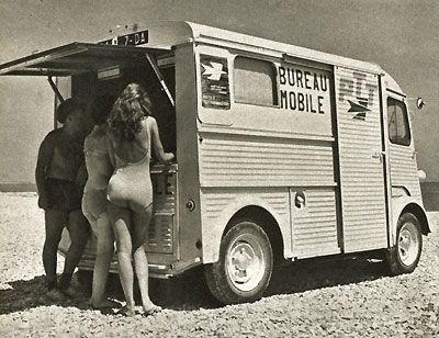 citro n type h la poste bureau mobile autocar et camion pinterest bureaux et mobiles. Black Bedroom Furniture Sets. Home Design Ideas