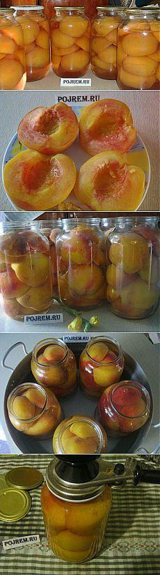Рецепт компота из персиков на зиму. Персиковый компот - рецепт с
