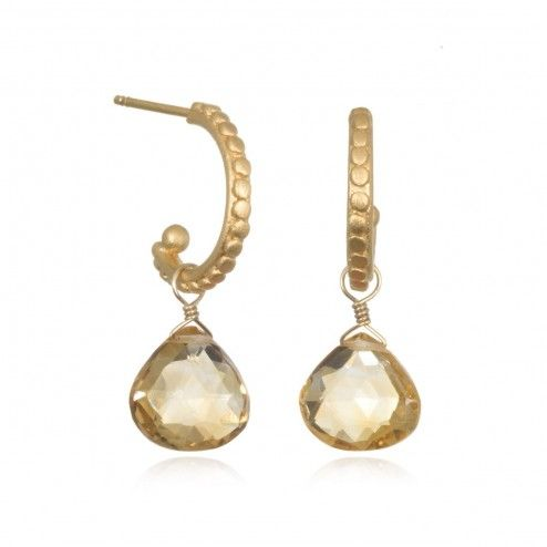 Satya Gold Citrine Bask in the Glow Earrings at aquaruby.com