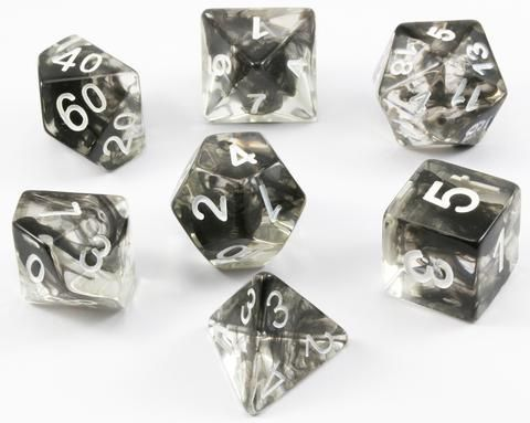Get in the game with Venom Dice (Black). These awesome dice are a clear acrylic...