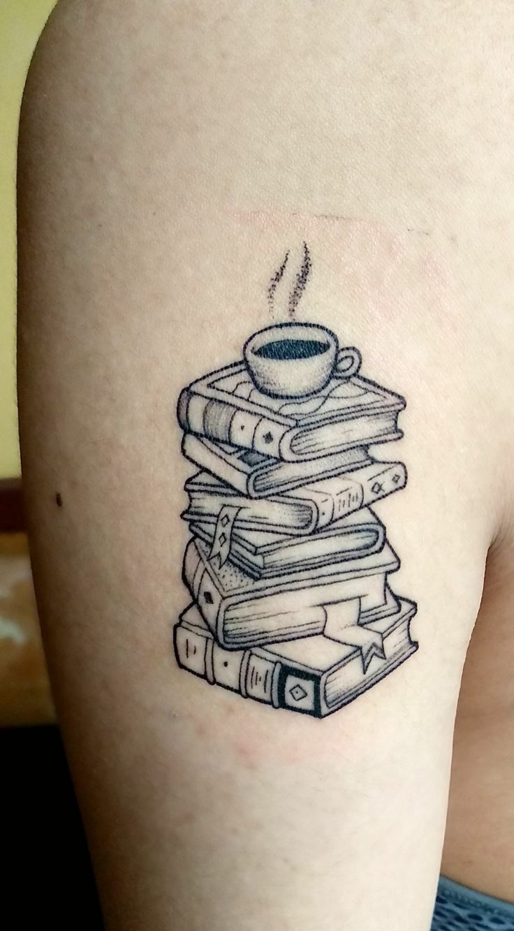 Pin By Allure Culture On Tattoos Bookish Tattoos Book Tattoo Coffee Tattoos