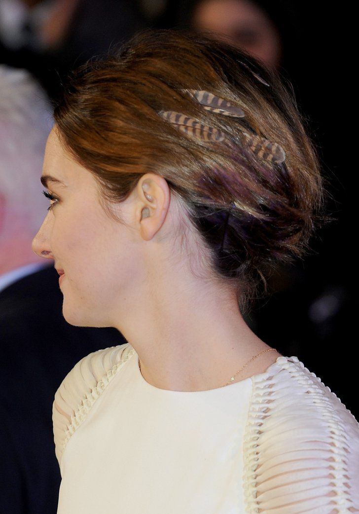 Pin for Later: Shailene Woodley Brings Back the Hair-Feather Trend Shailene's Hair Feathers From the Side