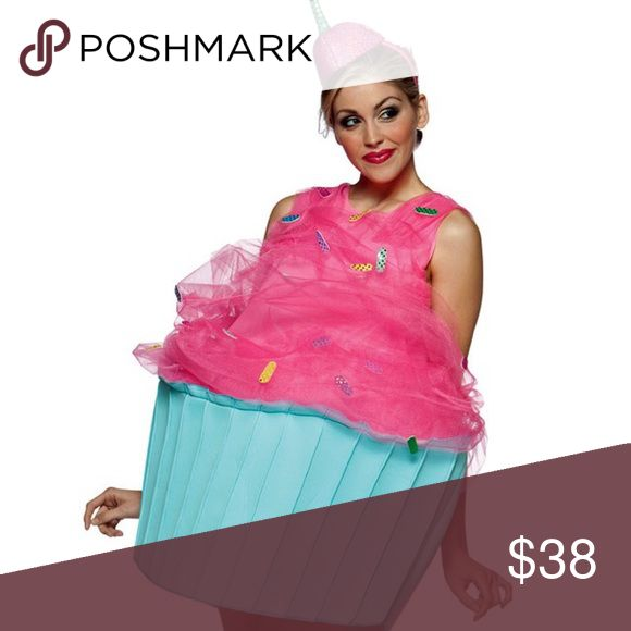 Cupcake Costume Brand new Halloween cupcake costume! Super cute!! The two-piece, Sweet Eats Cupcake costume includes a pink and blue cupcake dress with sprinkles and matching head piece with stem. Short comes mid thigh one size fits all! 4 available! 38.00 each! Purchased on Yandy.com Other