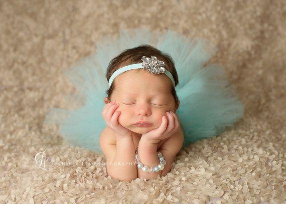 Tutu and headband set aqua velvet jewels luxe tutu and headband newborn tutu girls infant baby child toddler tutu