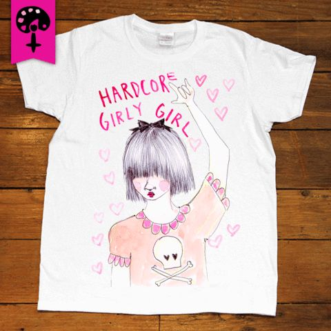 Hardcore Girly Girl -- Women's T-Shirt/Tanktop – Feminist Apparel