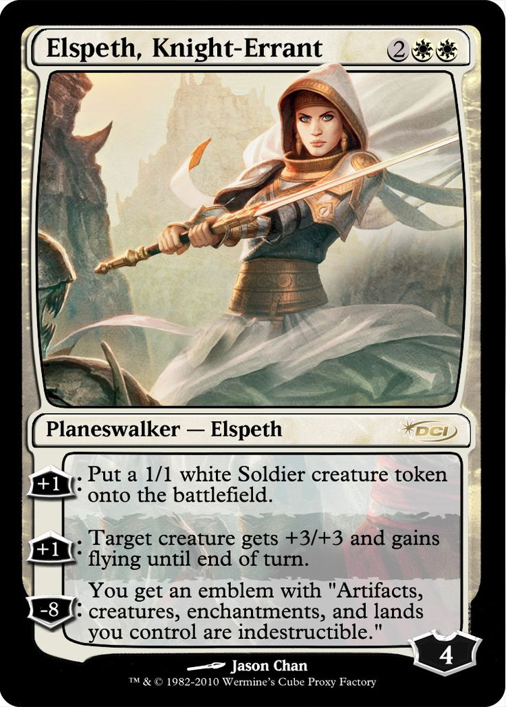 Elspeth, Knight-Errant | MTG Digital Rendering | Pinterest