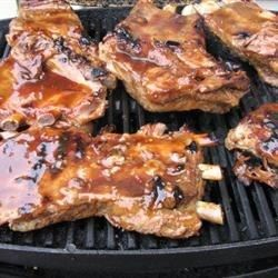 Sweet and spicy barbecued spareribs with a touch of rum.