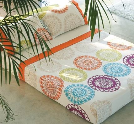 JGO. SABANAS MANDALA NAF NAF, 46€.    http://www.hometextilesstore.com/store/product_info.php?cPath=84_id=1152
