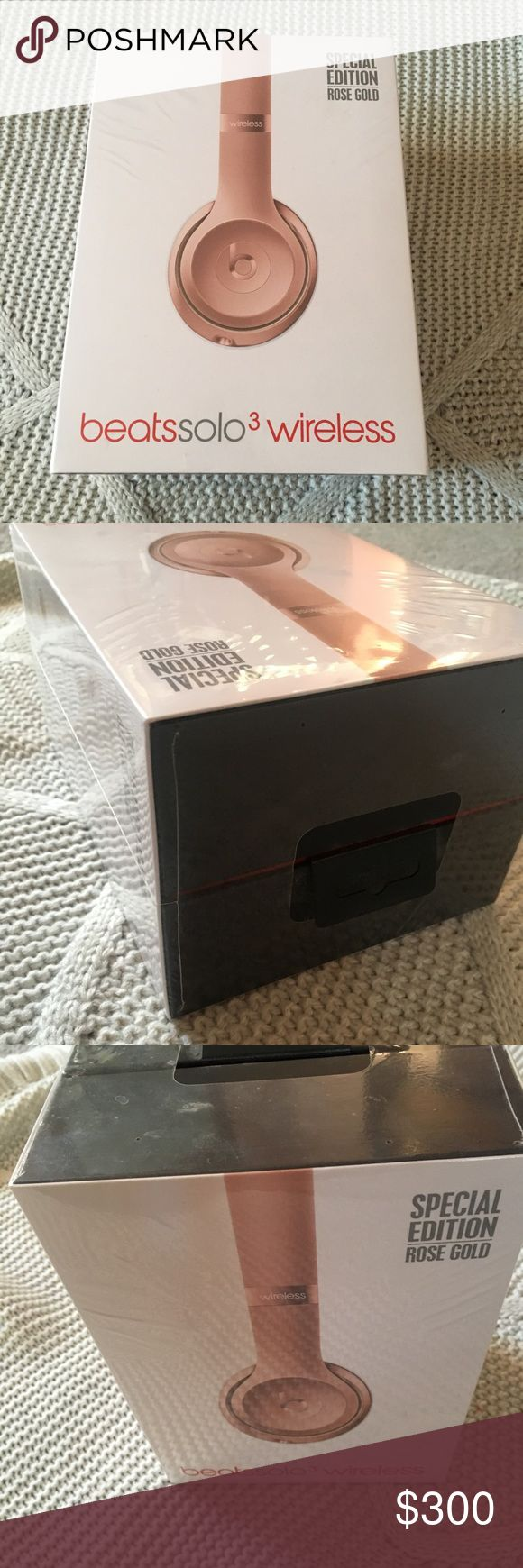 Solo3 Wireless Beats Headphones Never used still in box! Rose Gold Wireless Headphones beats by dre Other