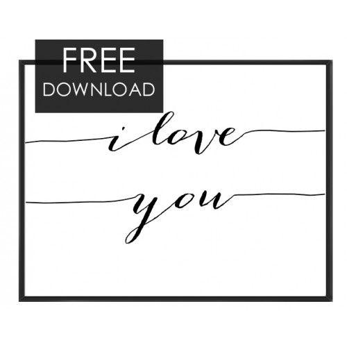 Free I love you art print- F16