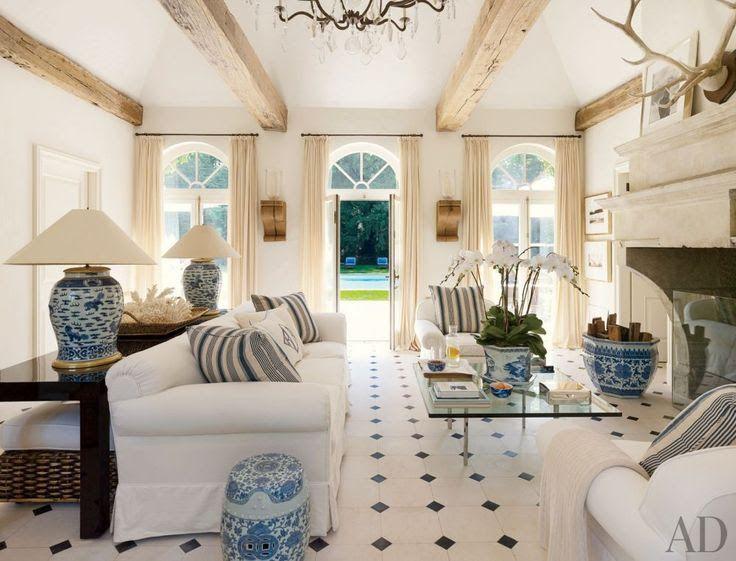 White Living Area Via Ralph Lauren Rooms Pinterest