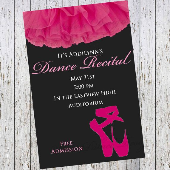 67 best dance recital invitations images on pinterest dance of course different colors but i like this one dance recital invitation dance invitation by stopboris Gallery