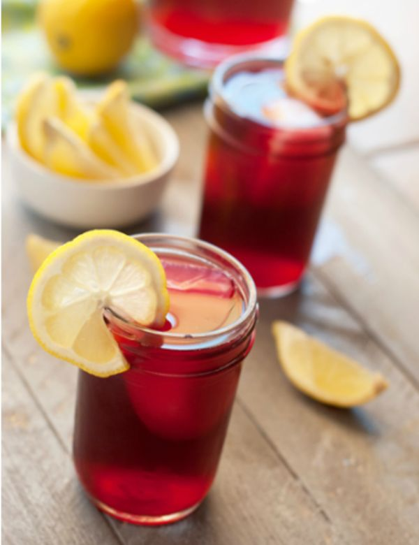 Here is our version of the popular passion iced tea lemonade commonly found at Starbucks. Make a big pitcher to have on hand for sipping.