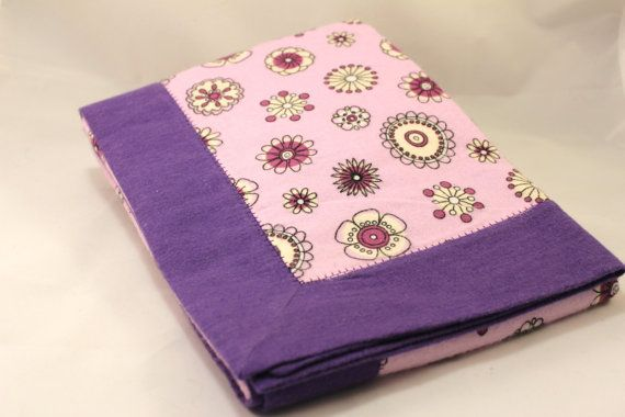 Double Layer Purple Receiving Blanket Snuggle by KRaeDesign