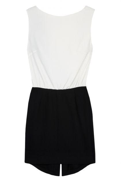 Nadia Rapti Black & White Pencil Dress_Fashionnoiz.com #NadiaRapti #Fashionnoiz