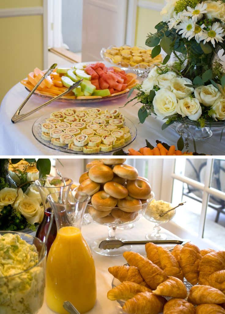 Wedding Bridesmaid Brunch. Luncheon, Breakfast Buffet. Bridal Shower Brunch, food table