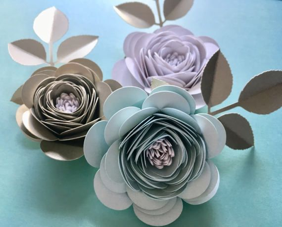 Handcrafted corsage/hair clip made from by PaperFlowerCompany