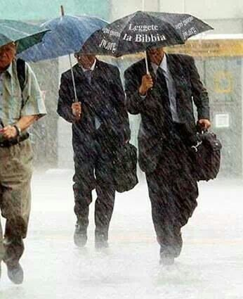 "Love this THESE ARE OUR ITALIAN BROTHERS WITH ITALIAN UMBRELLAS THAT SAY ""READ THE BIBLE"" SO COOL"