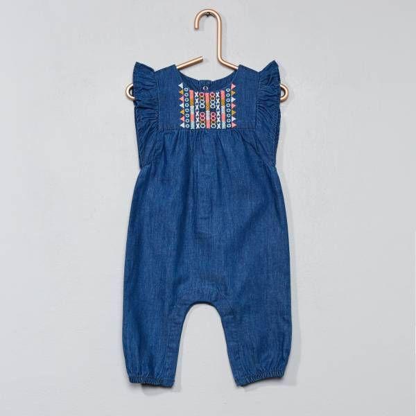 Naissance B/éb/é Filles Pantalon Jeans bleu