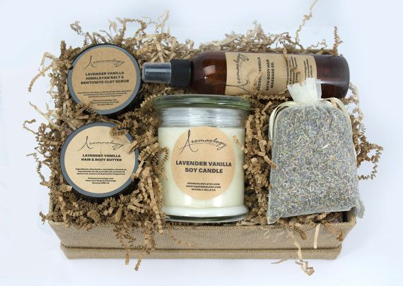 Gift Basket  Aromatherapy Peppermint  Spa Inspired  by Aromaology