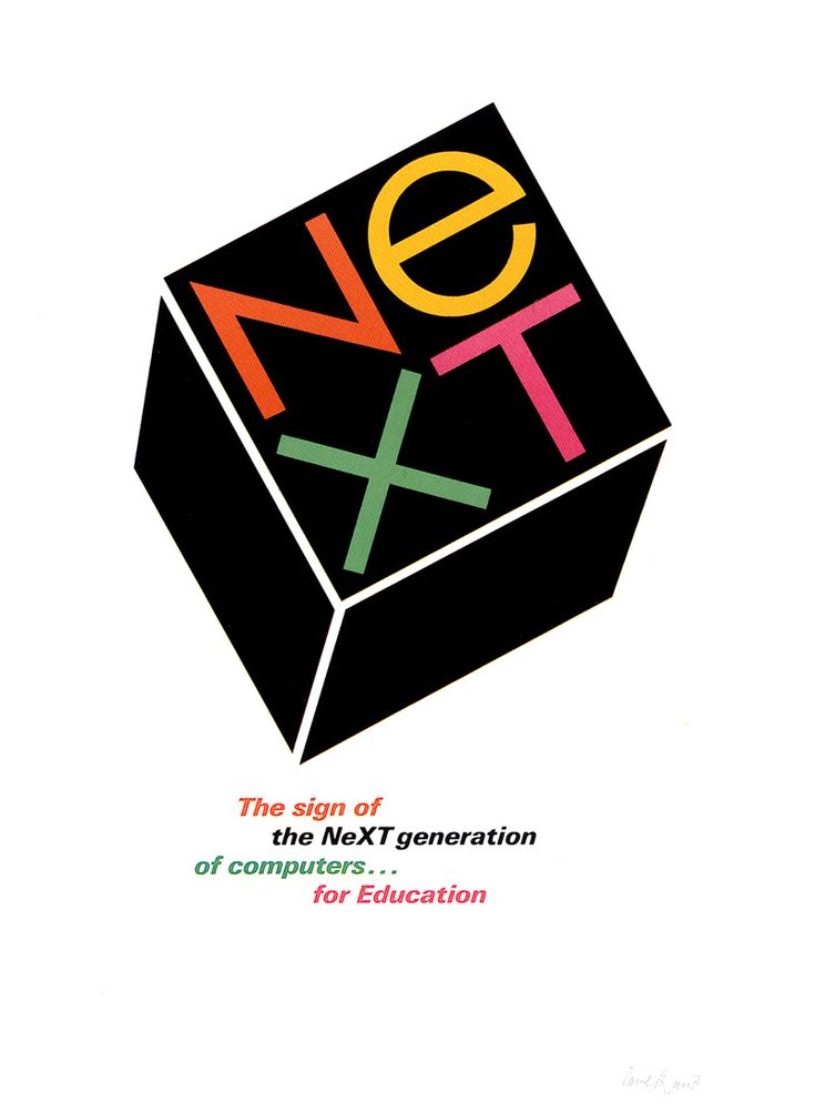 Steve Jobs' NeXT ad by Paul Rand • NeXT 1985-1996 • Jobs, ousted from his revolutionary baby Apple (1976-04-01) in 1985-09-17 quickly worked on Meta-tech ; ) • sheer power of NeXTstation enabled 1st web! (1991Aug6 by Sir Tim Berners-Lee) + object-oriented NeXTSTEP OS + OpenStep & dynamic WebObjects ($50k!) code languages highly influential • Apple acq. NeXT 1996-12-20 for $429M – return of Steve saved Apple & made it the sole phoenix rising ever…