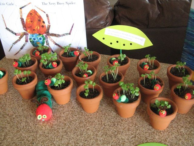 favors and other ideas for a Very Hungry Caterpillar party
