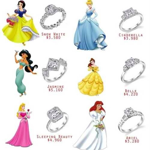 disney princess inspired wedding rings wedding